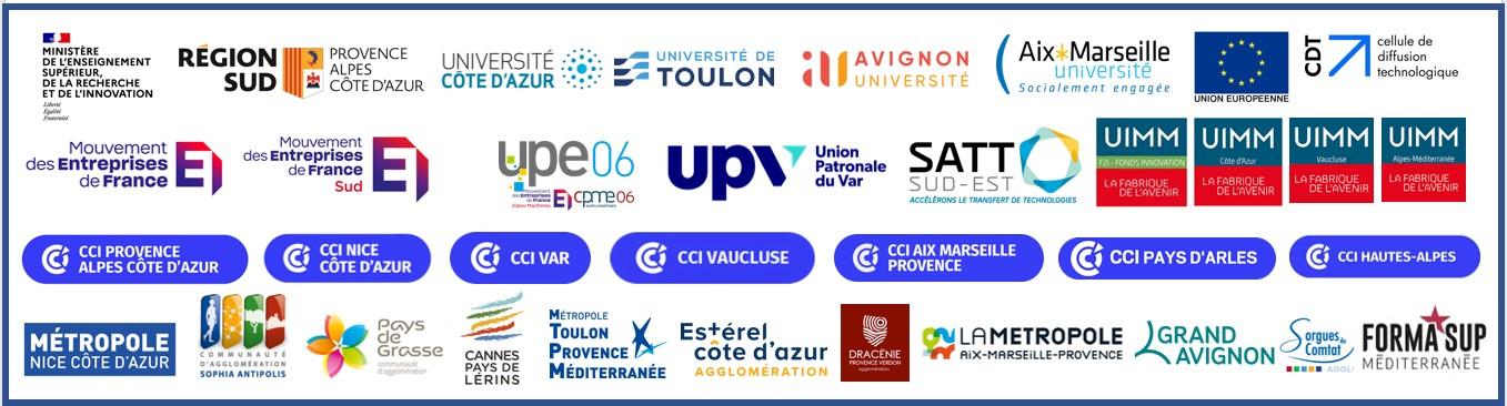 Les Partenaires de Recherche et Avenir : UPE 06, Medef, Pays de Grasse, F2I, Région PACA, CASA, CNRS, Ministère de l'enseignement supérieur, Ville de Nice, CCi Nice Côte d'Azur, Commission européenne, IUMM