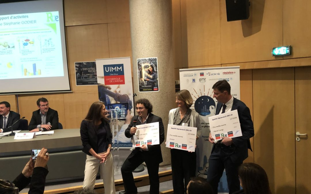 Remise des 3 Chèques Innovation aux entreprises UIMM Côte d'Azur lauréates et reconduction du dispositif pour 2019